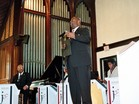 CVD Presenting Dr. Billy Taylor with Award at Howard University Rankin Memorial Chapel