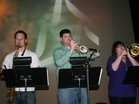 Horn Section in Rehearsal (Steve, James & Karen) Godsons and Goddaughter
